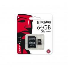 KINGSTON MICRO SDHC 64GB - 1 ADAPTERREL - CLASS 10