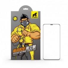 Apple iPhone X/XS/11Pro Type Gorilla Receiver Dustproof 2.5D Silk Full Üvegfólia - Fekete