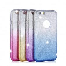 Huawei P40 Lite Gradient Glitter TPU - rózsaszín