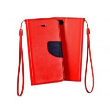 Huawei P40 Lite Fancy könyvtok - piros