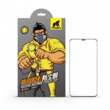 Apple iPhone 12 Mini Type Gorilla Receiver Dustproof 2.5D Silk Full Üvegfólia - Fekete