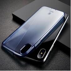 Apple iPhone X Baseus Simple Szilikon - kék