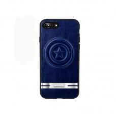 Apple iPhone X JOYROOM JR-MV004 Avengers Bőrhátlap - Captain America