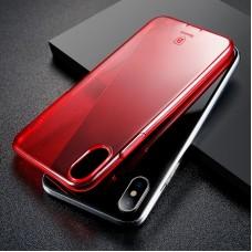 Apple iPhone X Baseus Simple Szilikon - piros