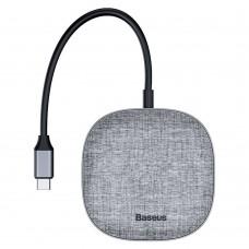 BASEUS HUB 7in1 Type C to 2 x USB3.0 + HDMI + RJ45 + SD/TF + Power Delivery -Szürke