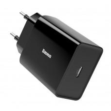 Baseus 18W USB-C hálózati töltő adapter - Fekete