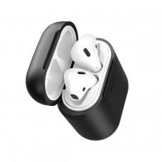 Baseus Apple AirPods 1-2 szilikon tok vezetéknélküli töltéssel - fekete