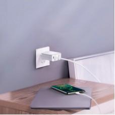 Baseus 30W dual port USB-C hálózati töltő adapter - fehér