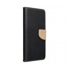 Samsung A72 Fancy könyvtok - fekete - arany