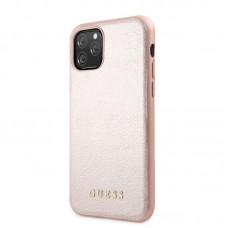 Apple iPhone 11 Pro Guess Bőr Hátlap- Rózsaszín