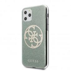 Apple iPhone 11 Pro Guess Szilikon Csillogós Hátlap- Zöld