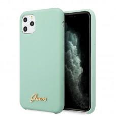 Apple iPhone 11 Pro GUESS Silicon Soft Hátlap - Menta Zöld