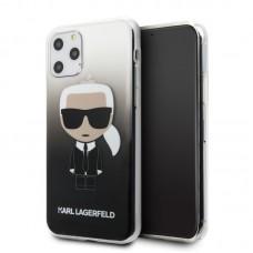 Apple iPhone 11 KARL LAGERFELD Színátmenetes TPU Hátlap- Fekete