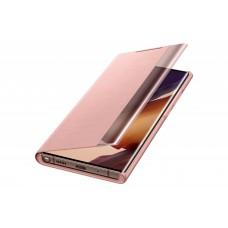 Samsung Galaxy Note 20 Ultra gyári clear view cover - rézbarna