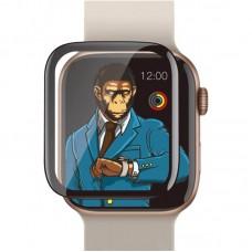 Apple Watch 1/2/3 38mm Type Gorilla 3D HD Full Ragasztós Üvegfólia - Fekete
