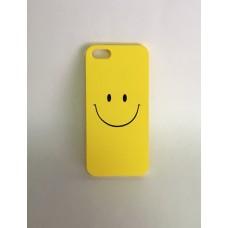 Apple iPhone 5/5S/SE mintás műanyag hátlap - smiley sárga