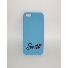 Apple iPhone 5/5S/SE mintás műanyag hátlap - smileytext kék
